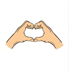 Hands heart symbol vector image