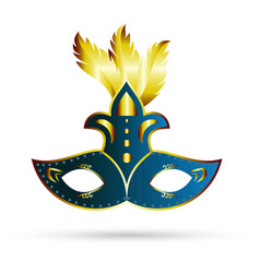 happy brazilian carnival day blue and golden vector image
