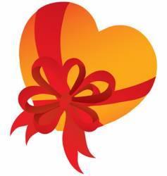 heart in gift vector image
