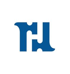 Initial letter h and hammer logo design vector