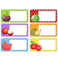 Label design with fresh fruits vector image