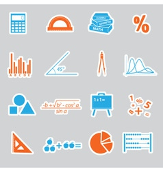 Mathematics stickers set eps10 vector