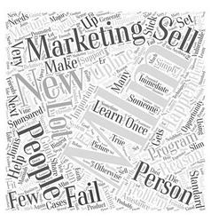 MLM Marketing Word Cloud Concept vector