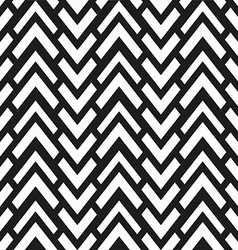 monochrome zigzag seamless pattern vector image