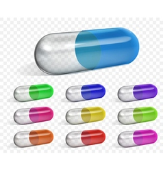 Multicolored capsules vector