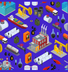 oil industry and energy resource background vector image
