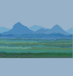 Painted summer background a mountain valley vector