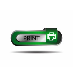 Print button sign vector image