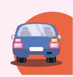 purple car icon vector image