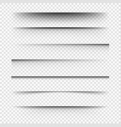 realistic shadowsset transparent vector image