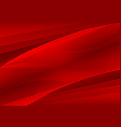 Red abstract waves background vector