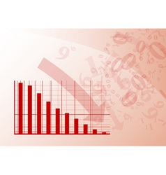 red graph vector image