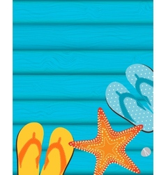 Sandals and Starfish Summer Background vector
