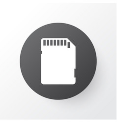 sd card icon symbol premium quality isolated vector image