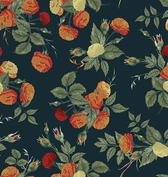 Seamless floral pattern with orange and white vector