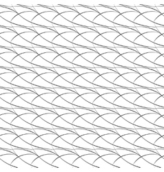 Seamless pattern of arcs black and white vector