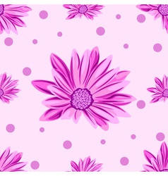 seamless pink floral pattern vector image