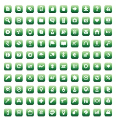 Set of 100 icons for web vector image vector image