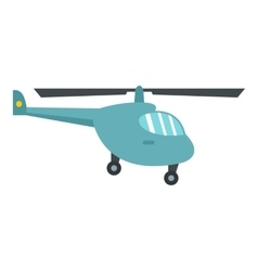Small helicopter icon flat style vector