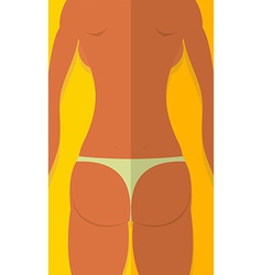 Spin tanned girls Woman is lying on beach Summer vector image
