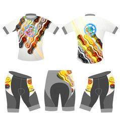 sports graphics chain on t-shirt vector image