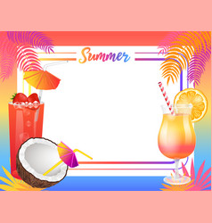 Summer beach party banner placard sample vector