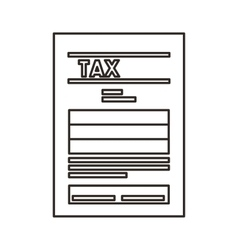 Tax paper document isolated icon vector