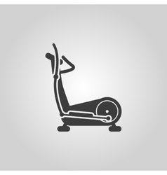 The elliptical trainer icon Bike symbol Flat vector image