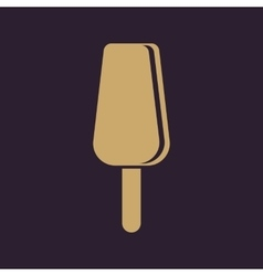The ice cream icon Dessert and popsicle vector