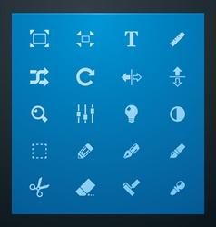 universal glyphs 3 photo set vector image vector image
