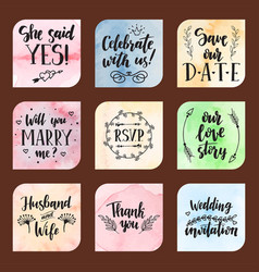 wedding day marriage proposal phrases text vector image