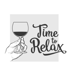 wine bottle and hand holding a glass vector image