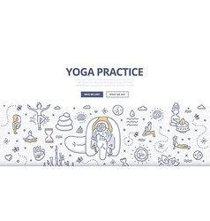 Yoga Doodle Concept vector image