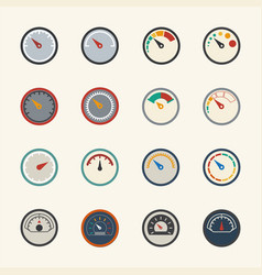 Circular meter icons set vector