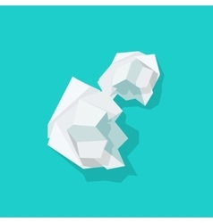 Crumpled paper ball isolated vector