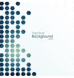 hexagon designed background vector image vector image