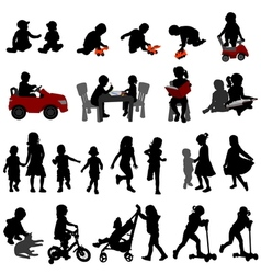 kids and toddlers vector image vector image