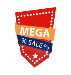 mega sale logo vector image