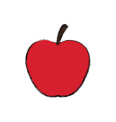 Red apple fresh fruit dieting nutrition concept vector