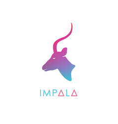 artistic stylized antelope logotype vector image