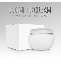 cosmetic packaging design paper or vector image