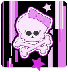girly skull and crossbones vector image vector image