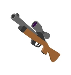 Hunting rifle cartoon icon vector image vector image