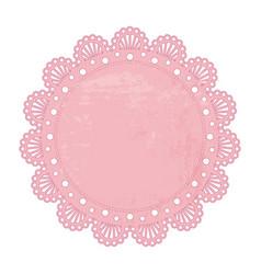 pink napkin vector image vector image