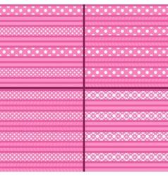 pink polka dot striped pattern vector image