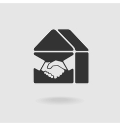 Symbol Handshake and Real Estate vector image vector image