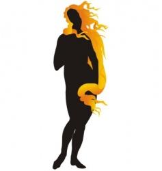 Aphrodite vector image