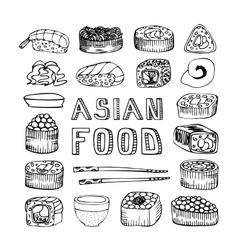Asian food vector image