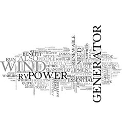 Best way to power your rv text word cloud concept vector