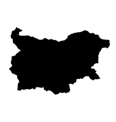 Black silhouette country borders map of bulgaria vector